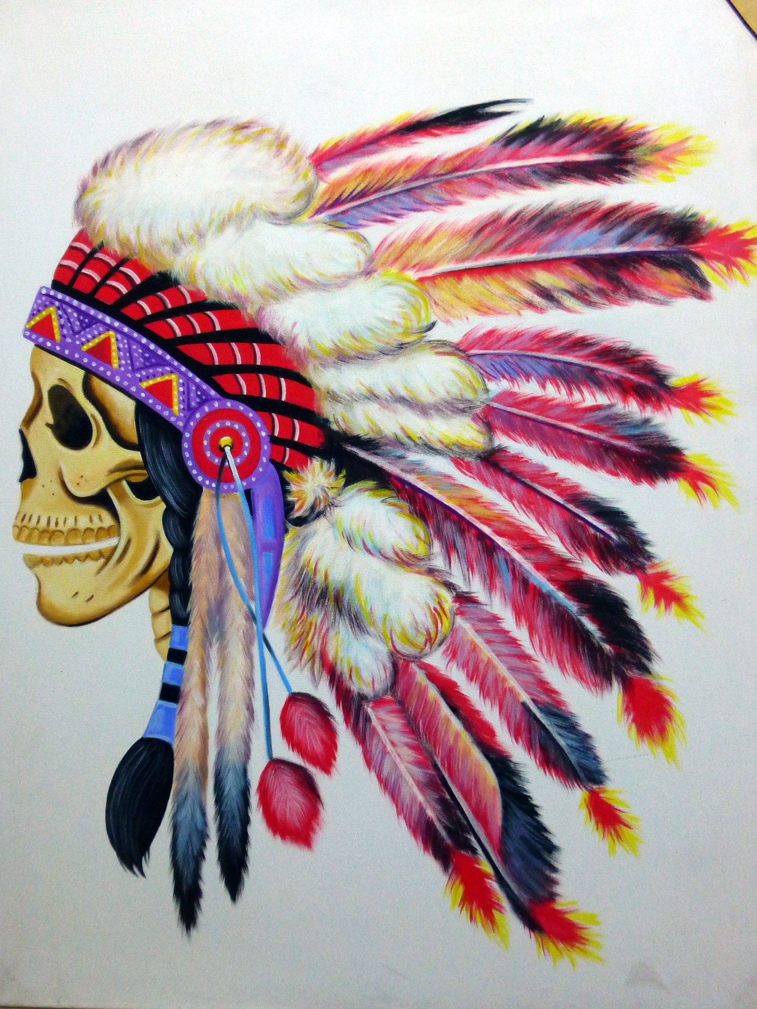painting skull indian
